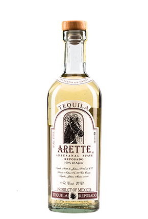 The front of the bottle Arette Suave Reposado