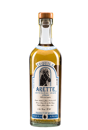The front of the bottle Arette Artesanal Suave Añejo