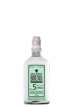 Bruxo 5 Tobala the front of the bottle 70 cl