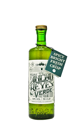 The green bottle of Ancho Reyes Verde
