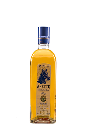The front of the bottle Arette Añejo Clasico