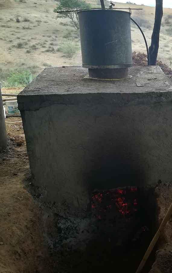 The oven in the Pablo Vazquez's palenque